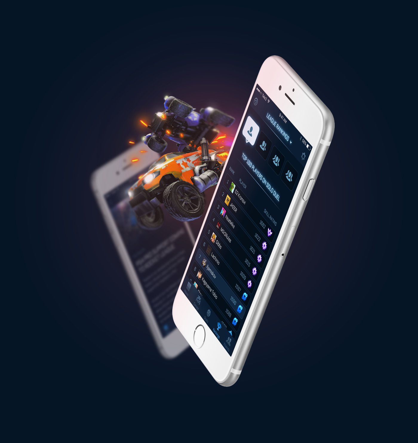 This Is A Rocket League Companion App Concept It Allows You To See The Latest News About The Game Receive Notific Customize Your Car Rocket League Custom Cars