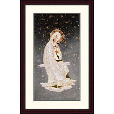 "Global Gallery 'Madonna of the Peace' by Fra Angelico Framed Painting Print Size: 38"" H x 23.98"" W x 1.5"" D"