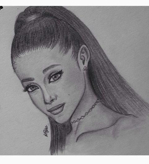 Pin By Tatiana Ramirez On Ariana Grande Ariana Grande Drawings Celebrity Drawings Ariana Grande