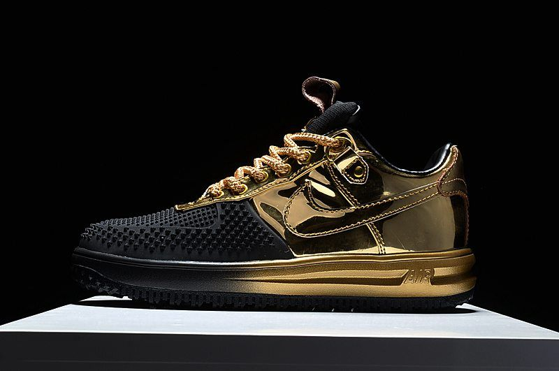 online retailer 709a4 0eab8 NIKE LUNAR FORCE 1 LOW DUCK BOOT Black Gold
