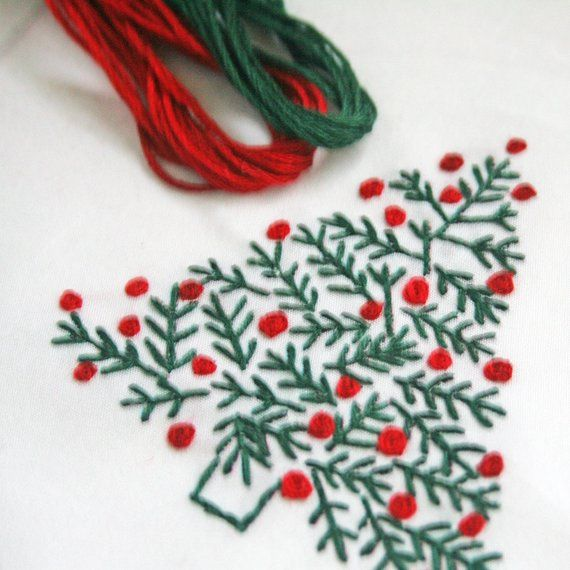 Christmas Embroidery pattern Crewel Embroidery DIY