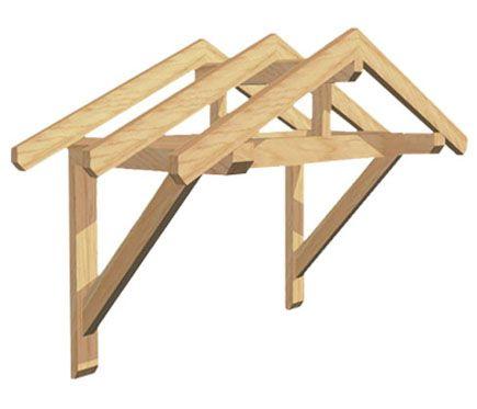 Marquesina Eco Kit 2 Vertientes Carpentry Porch Awning
