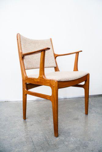 Mid Century Danish Modern Dining Chairs Teak Set Of 6 Vintage