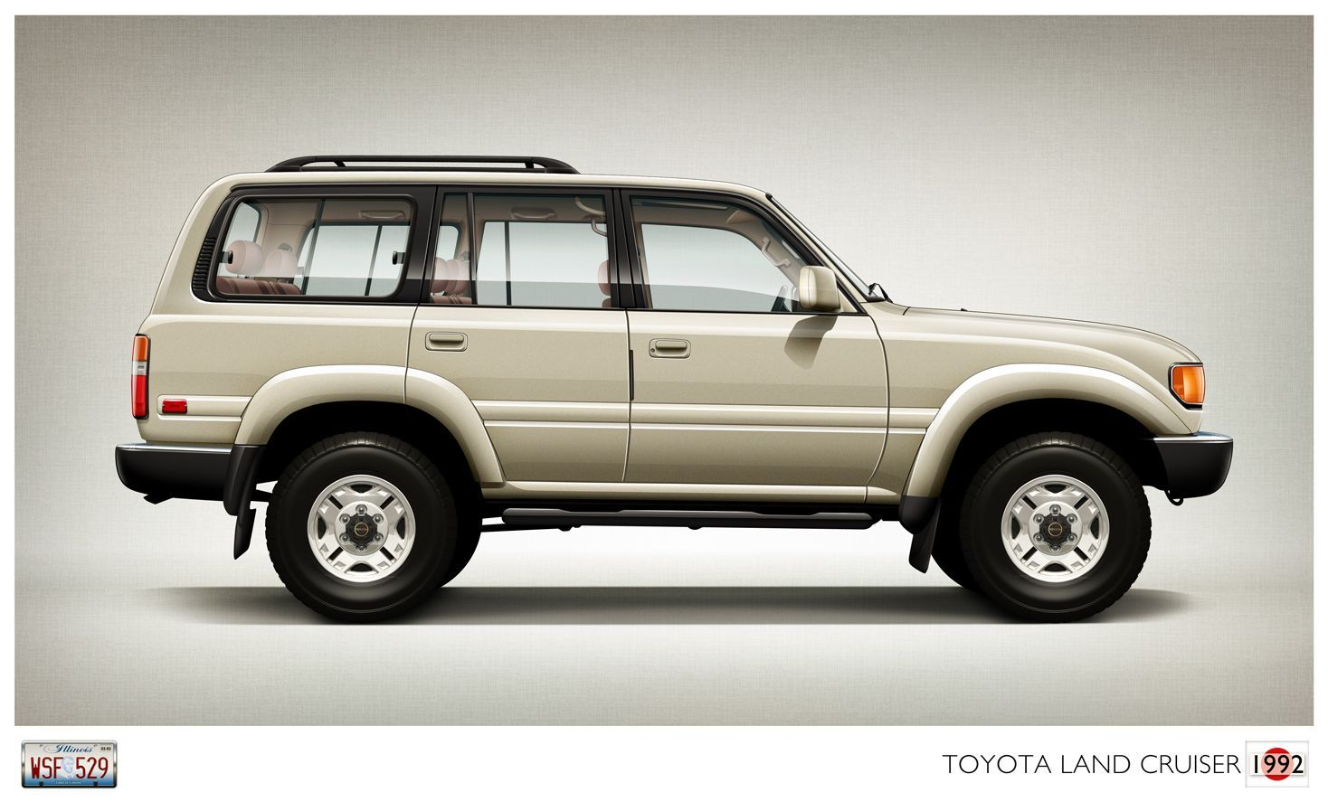 I Had Firstcar Do An Illustration Of My 1992 Toyota Land Cruiser And It Came Out Great Thanks Mark Land Cruiser Toyota Land Cruiser Cruisers
