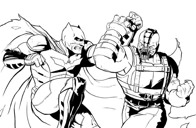 bane from batman coloring pages - photo#29