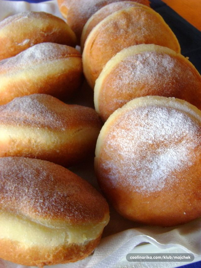 Bosnian (krofne) are filled doughnuts. They are round and ...