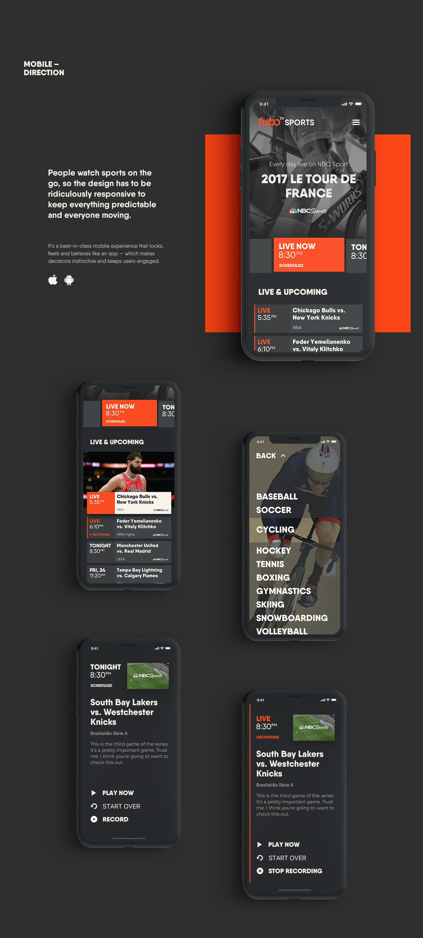 Visual and Interaction Design for SportsCentric