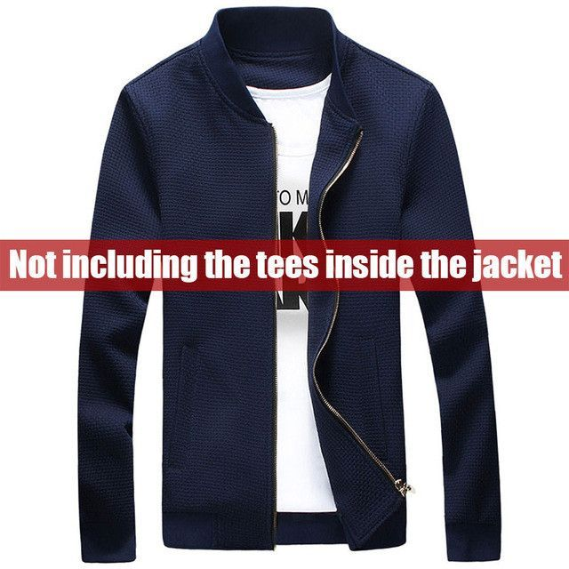 New Fashion Men Knitting Jackets Casual Autumn Coat Navy Blue Men Jacket Hombre