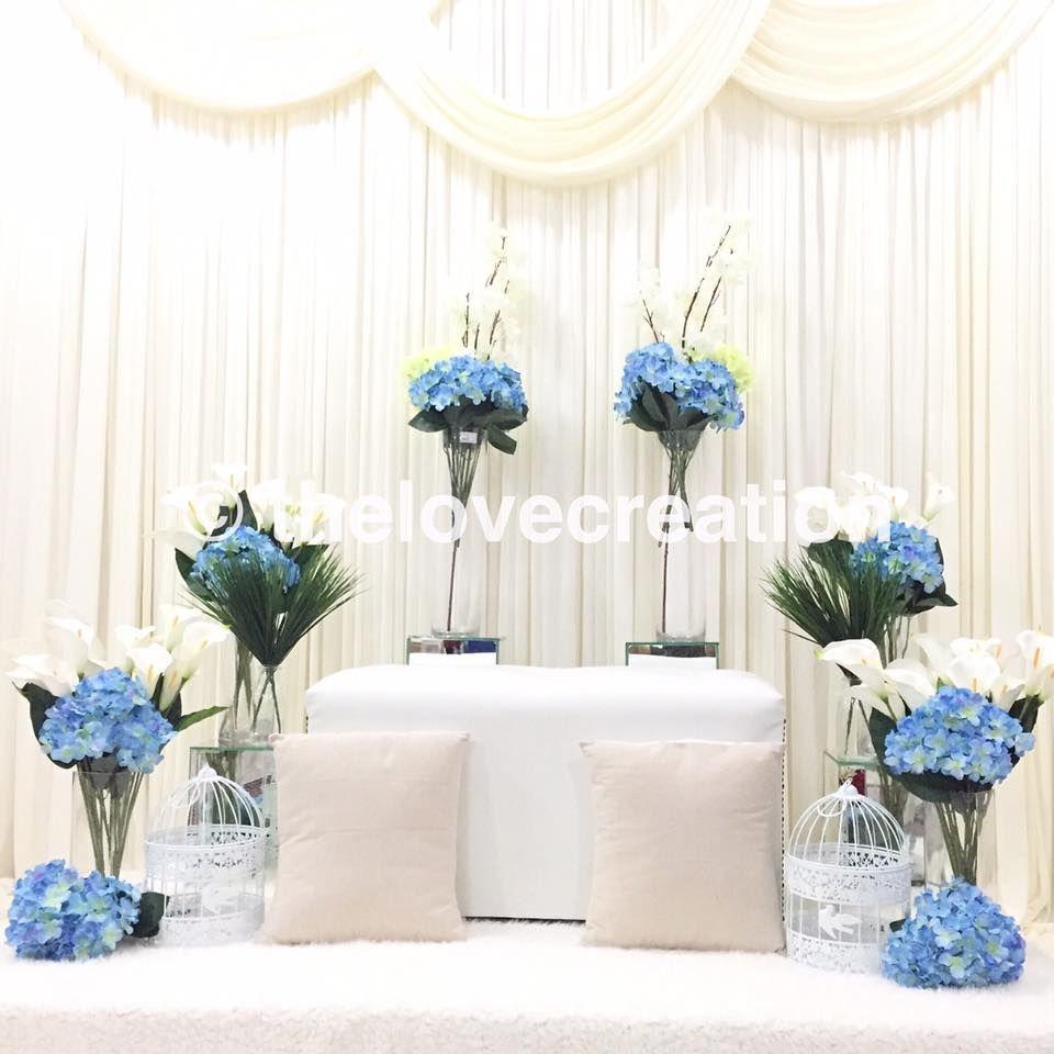 Wedding Nikah Simple Backdrop Decoration Muslim: Mini Pelamin Tunang Or Nikah By The Love Creation. Any