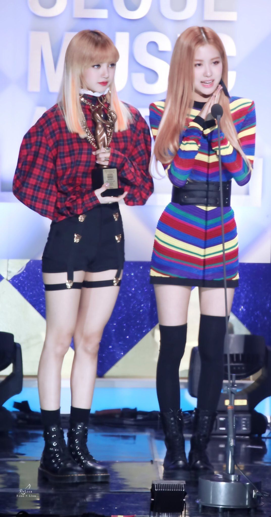 outstanding blackpink rose stage outfits 13