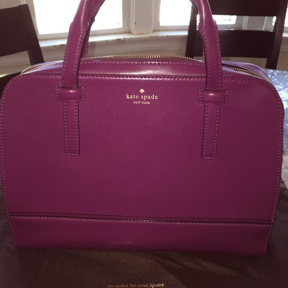 Authentic plum Kate spade handbag Love this bag. I saw it and had to have it! I used for about 3 months. Very good condition. Includes dust bag kate spade Bags