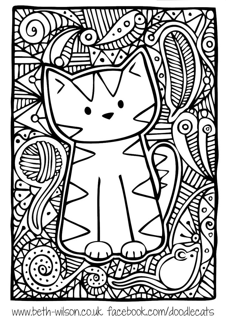 Doodleydoodlecat Cute Coloring Pages Cat Coloring Page Animal Coloring Pages