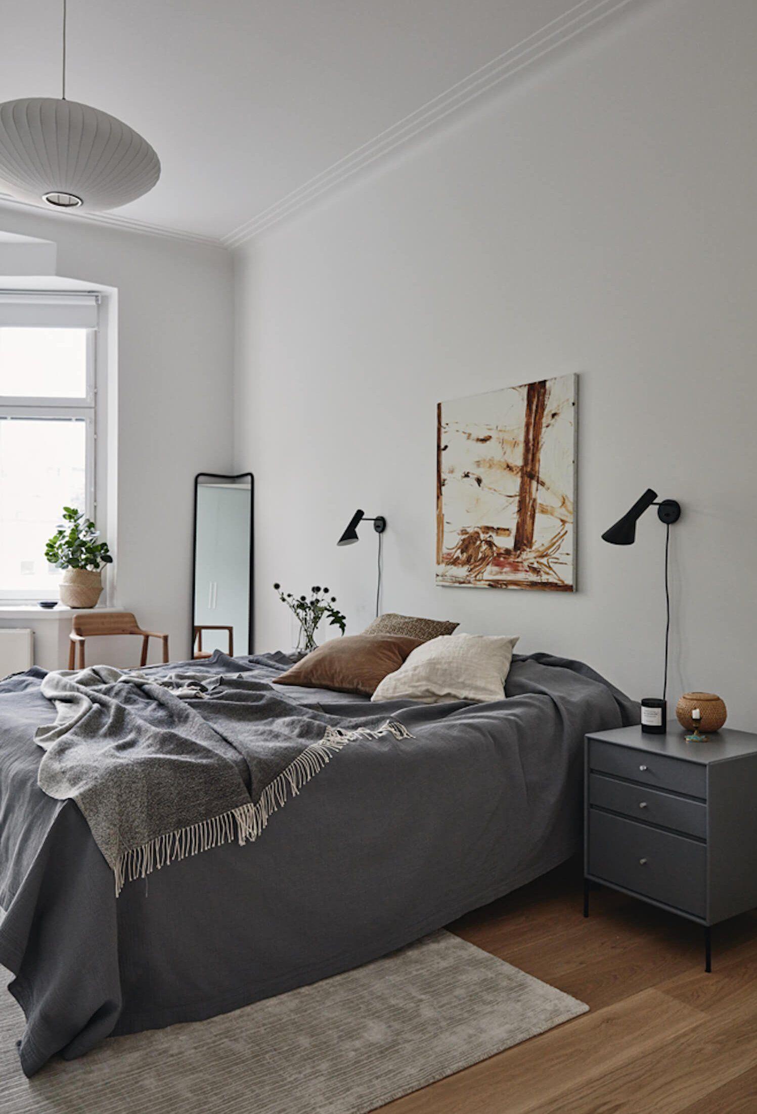 Get The Look New Nordic Style Est Living Scandinavian Style Bedroom Minimalism Interior Minimal Interior Design