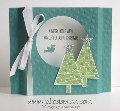 Julie's Stamping Spot -- Stampin' Up! Project Ideas by Julie Davison: Festival of Trees Diorama Card   Video Tutorial