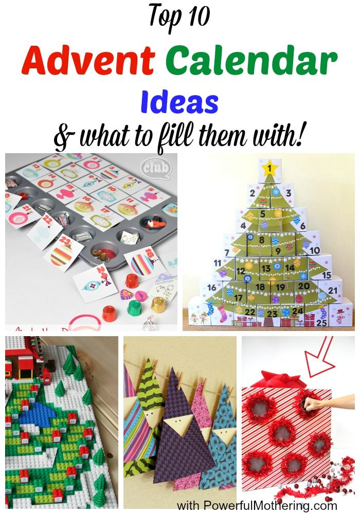Advent Calendar Ideas Inside : Top advent calendar ideas what to fill them with