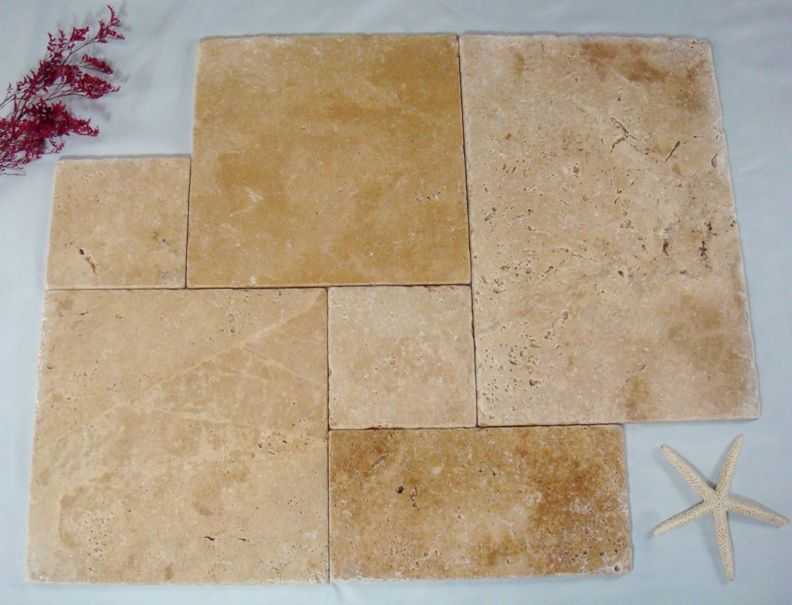 French Style Travertine Tile Layout