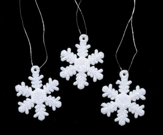 Mini White Glitter Snowflake Ornaments, 6 ct By Darice | 6 Pack | Michaels®