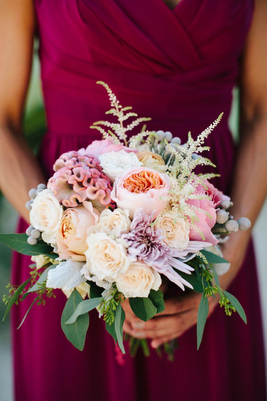 Florida keys beach wedding at drop anchor resort pale pink bouquet