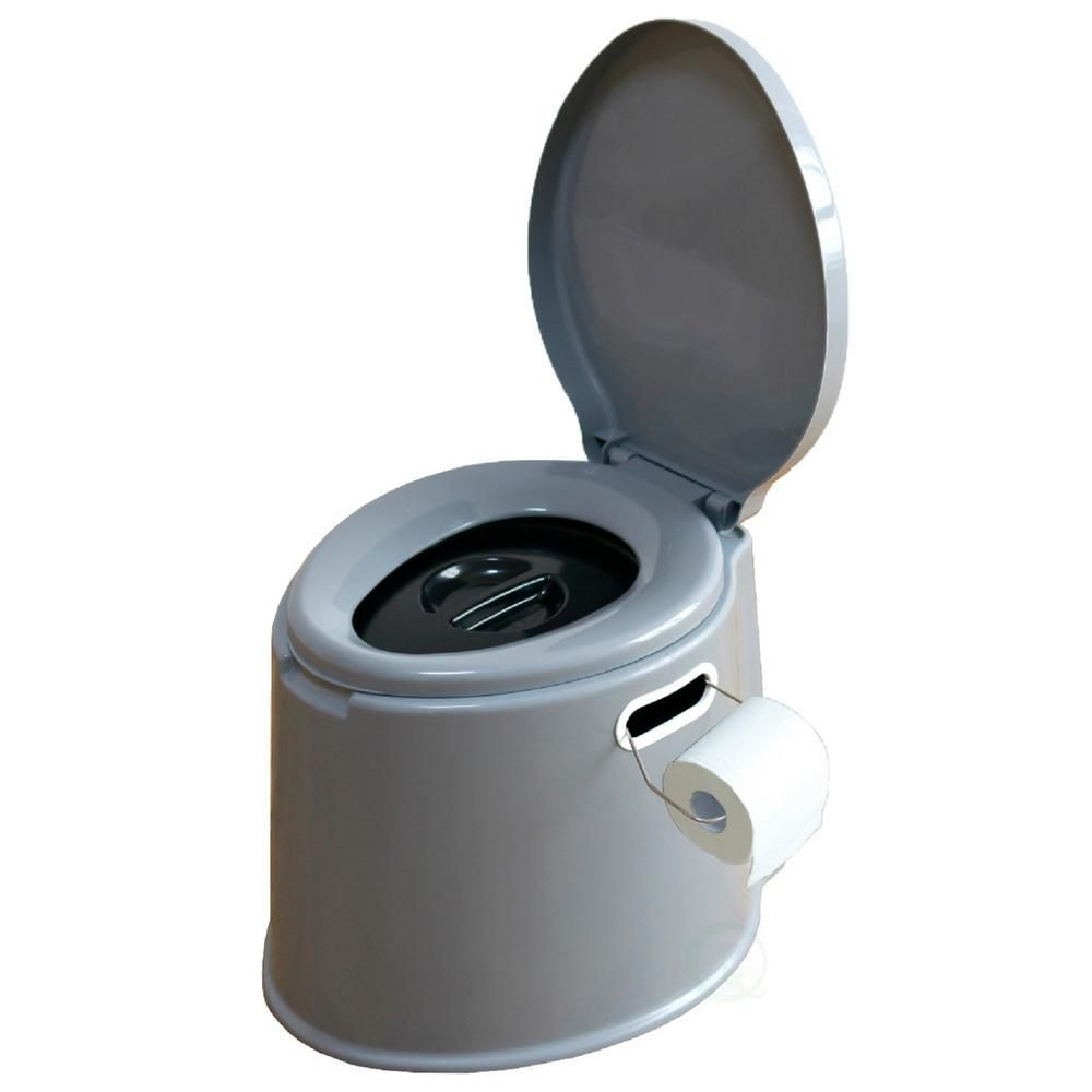 ... Toilet is a great c&ing hiking or backpacking accessory. Detachable waste pail features a removable cover that seals in odors. Use with toilet  sc 1 st  Pinterest & Basicwise Portable Travel Toilet For Camping and Hiking Non ...