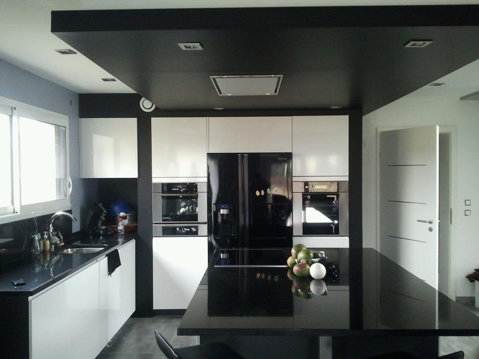 Cuisine avec faux plafond great design pinterest for Faux plafond avec spot