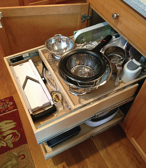 What Glide Outs Are To Your Cabinet Shelves The Drawer In A Drawer Is To Your Kitchen Drawers A Clever Kitchen Solutions Drawer Organizers Kitchen
