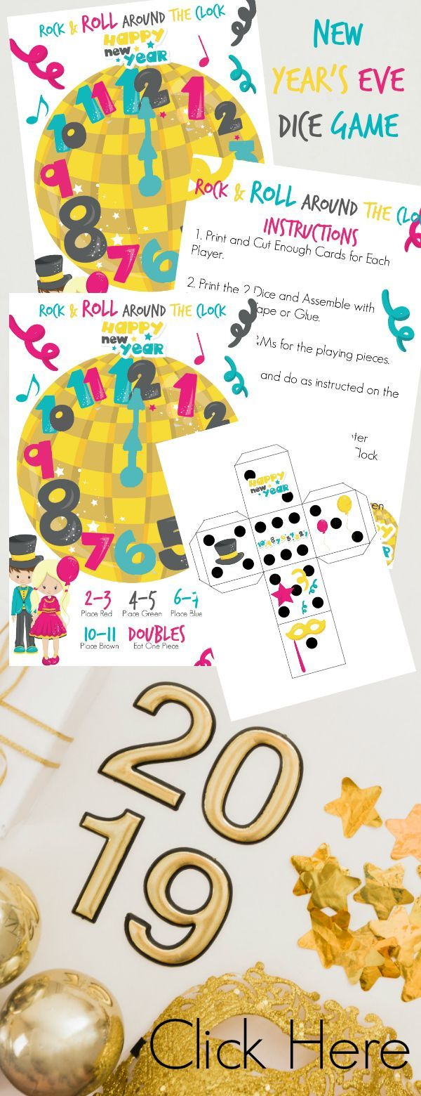 New Years Eve Games / New Years Eve Games for Kids / New ...
