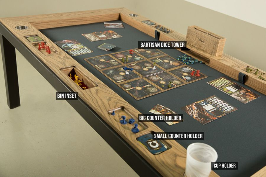 the phalanx a gaming table with minimalistic and contemporary look rh pinterest com