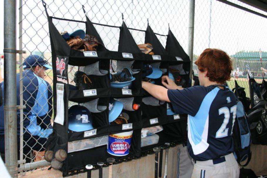 Dugout Organizer for Baseball & Softball Gear , Bats