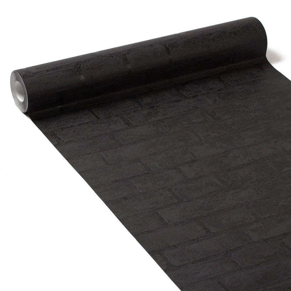 delightful papier peint brique noir 5 acheter empil s brique 3d pierre papier. Black Bedroom Furniture Sets. Home Design Ideas