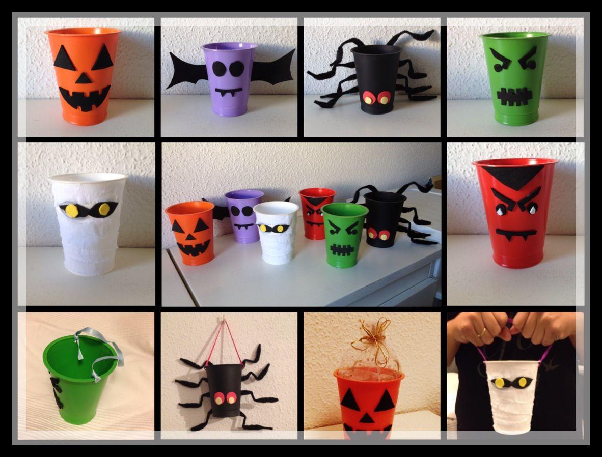 Vasos decorativos con dise os propios de la fiesta de - Disenos de calabazas de halloween ...