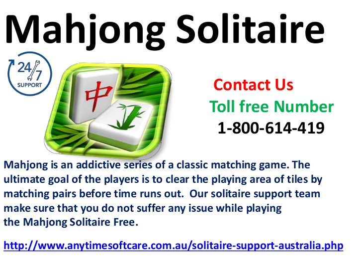 24/7 Active Support for Mahjong Solitaire Hurdles Dial 1