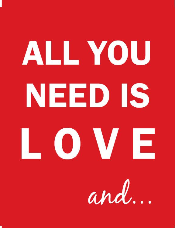 All You Need Is Love And A Valentine Gift Card Love Gift Ideas For