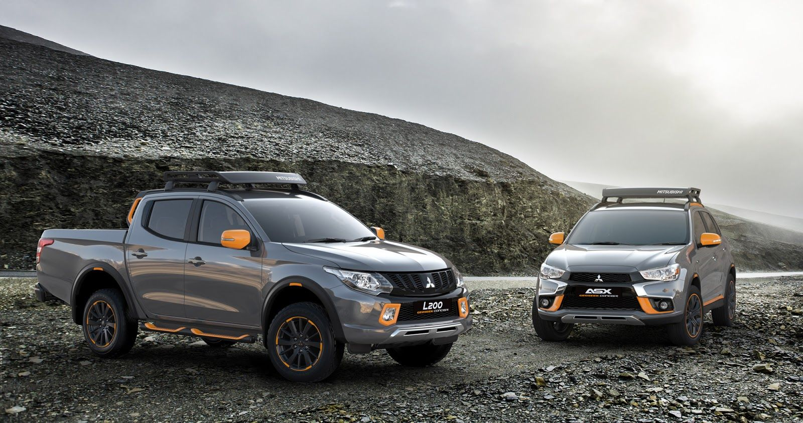Mitsubishi flavors up l200 and asx with geoseek concepts