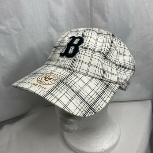 Boston Red Sox 47 Brand Clean Up Adjustable Field Classic White Hat Cap Mlb Os Boston Red Sox Red Sox 47 Brand