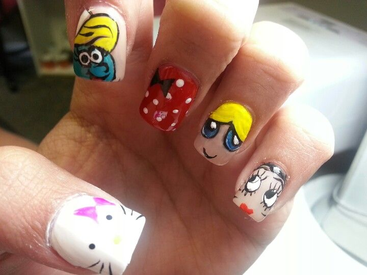 Did Female Cartoon Characters On My Daughters Nails Favs