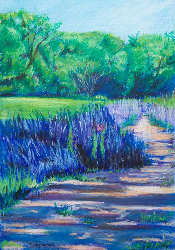 Landscape In Oil Pastels Oil Pastel Drawings Oil Pastel