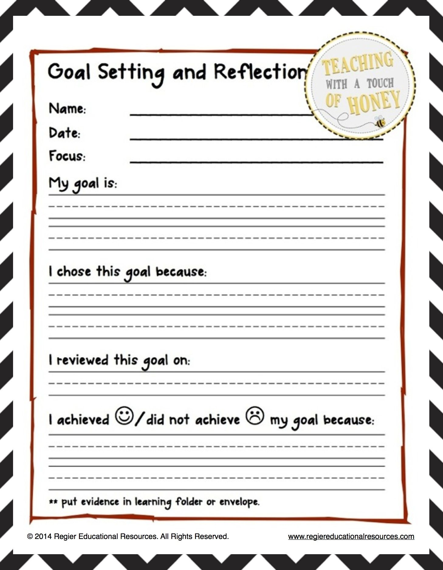 Language Arts Goal Setting