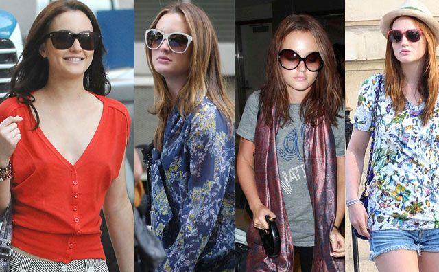 Leighton Meester aka Blair Waldorf are o pasiune pentru perechile de ochelari de soare oversized din acetat.