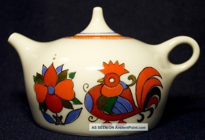 Rooster Horse Russian Lfz Lomonosov Teapot