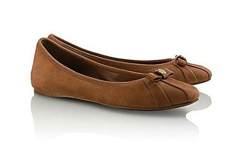 aea8893d5 New Tory Burch Ally Ballet Flat Soho Lux Suede Shoe Almond Size 8.5 Tory  Burch http