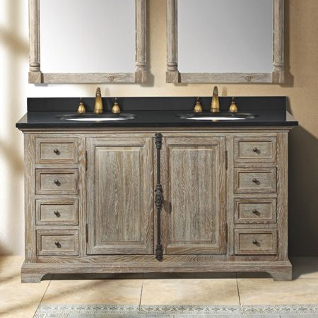 Camden 59 In Double Vanity Weathered Oak From Thos Baker