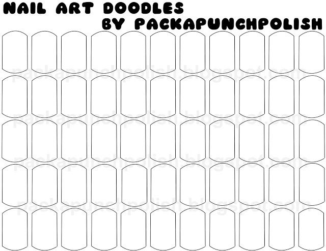 PackAPunchPolish: Nail Art Doodle Sheets! Draw out your