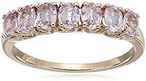 Amazon.com: 10k Pink Gold Pink Sapphire Ring, Size 7: Jewelry