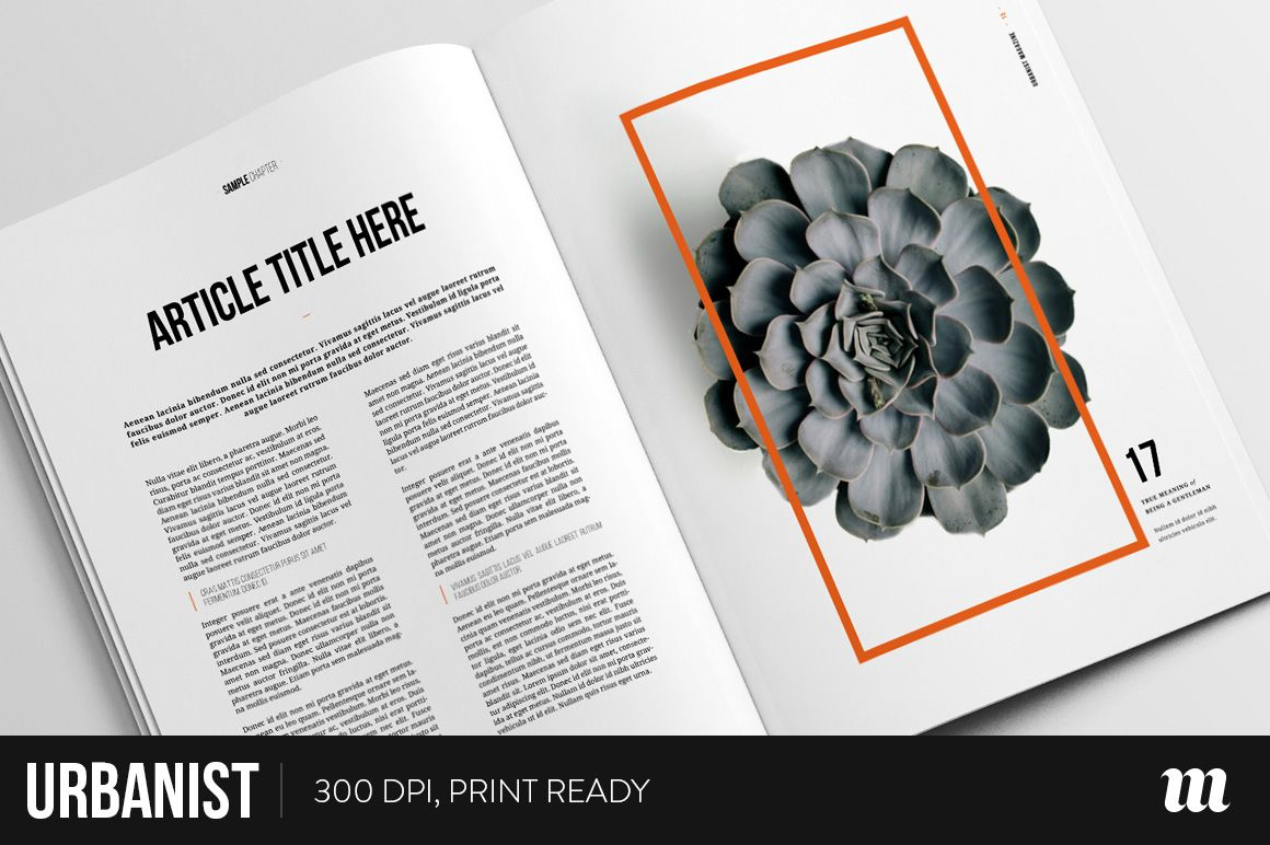 Urbanist Magazine InDesign Template by Mate Toth on ...
