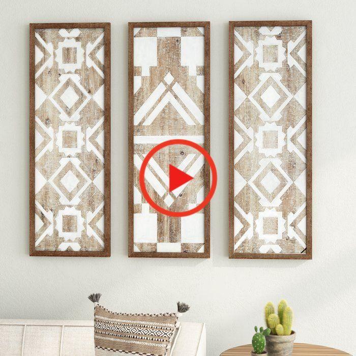 3 Piece Natural Wood Décor #homedecor