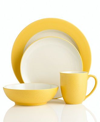 Noritake Dinnerware Colorwave Mustard Collection - Casual Dinnerware - Dining \u0026 Entertaining - Macy\u0027s  sc 1 st  Pinterest & Noritake Dinnerware Colorwave Mustard Collection - Casual ...