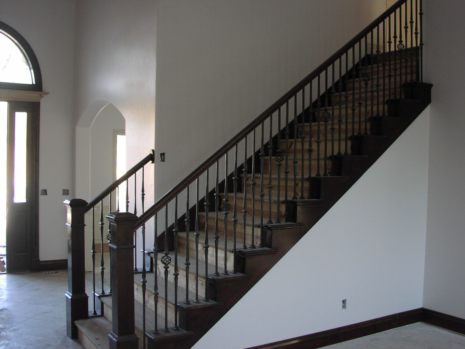 Best Stair Railing Bing Images Wood Stairs With Carpet In The 400 x 300