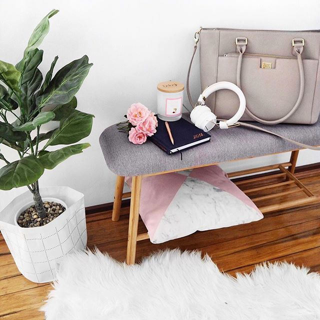 Kmart Scandi Inspired Shoe Rack And Fiddle Leaf Fig Via Leerachel Instagram