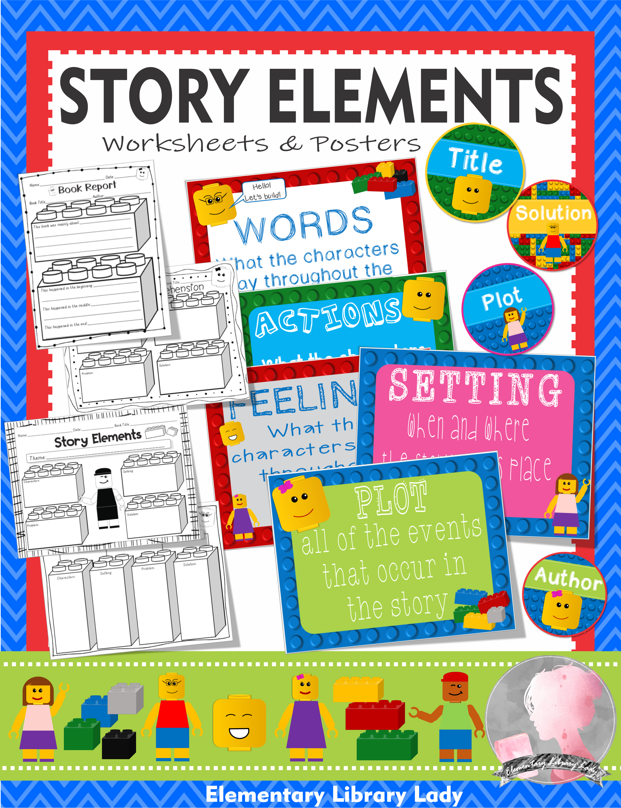 Story Elements Worksheets Amp Activities Lego Like