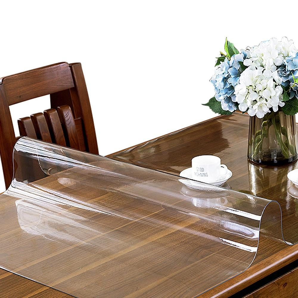 Clear Pvc Table Top Protector Thick Multi Size In 2020 Table Cloth Table Top Table Covers